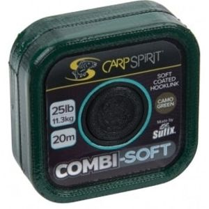 Carp Spirit Šňůra Combi Soft Coated Braid Camo Green 20m - 35lb