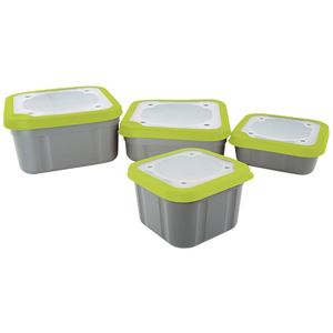 Matrix Box Bait Boxes Solid Top Grey/Lime - 1ltr Compact
