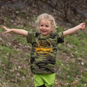 Mikbaits Dětské tričko camou - Mikbaits Dětské tričko camou 3 - 6 let