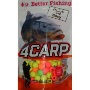 4Carp Fluoro pop up boilies 30g - Švestka 15mm