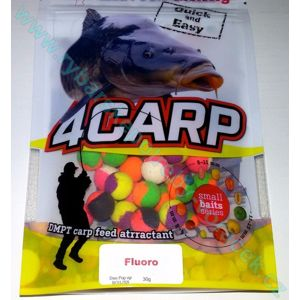 4Carp Duo Fluoro Pop up boilies - 12mm Švestka