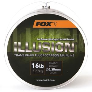 Fox Fluorocarbon Illusion Mainline Trans Khaki - 0.35mm 16lb/7.27kg 200m