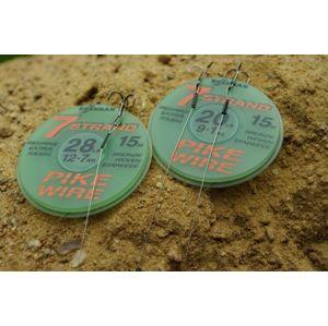 Drennan Ocelové lanko vázací 7 Strand Pike wire 15m - 28lb 12,7kg