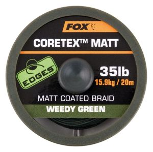 Fox Ztužená šňůrka Edges Coretex Matt 20m - Weedy Green 15lb