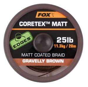 Fox Ztužená šňůrka Edges Coretex Matt 20m - Gravelly Brown 25lb