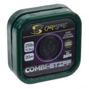 Carp Spirit Návazcová Šňůra Combi Stiff Camo Green 20 m-Nosnost 15 lb
