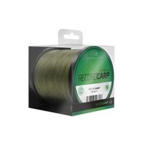 Fin Splétaná šňůra Record Carp 600 m Zelená-Průměr 0,26 mm / Nosnost 26,4 lb