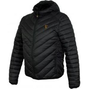 Fox Bunda Collection Quilted Jacket Black Orange-Velikost S