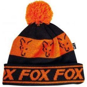 Fox Čepice Black Orange Lined Bobble