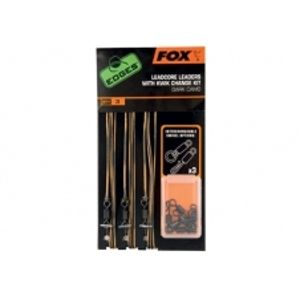 Fox edges hotové montáže leadcore leaders with kwik change kit-Light Camo