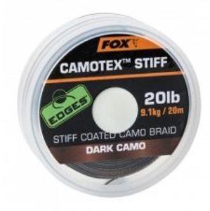Fox Návazcová Šňůrka Camotex Dark Stiff 20 m-Průměr 25 lb / Nosnost 11,3 kg