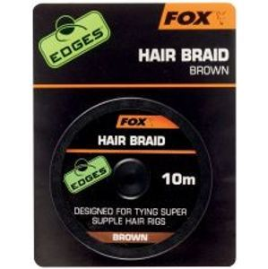Fox Návazcová Šňůrka Edges Hair Braid Brown 10 m