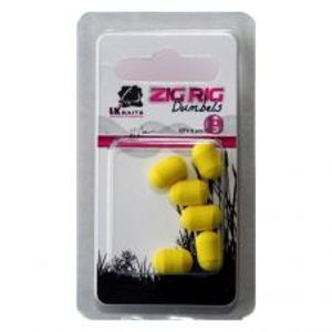 LK Baits Dumbels Pop-Up Zig Rig-Yellow