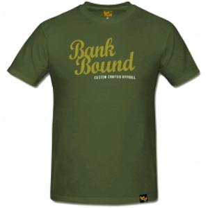 Prologic Triko Bank Bound Custom Ólive Tee-Velikost S