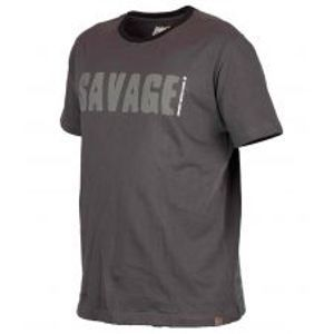 Savage Gear Triko Simply Savage Tee Grey-Velikost S